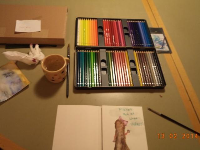 Konstnärsbordet...