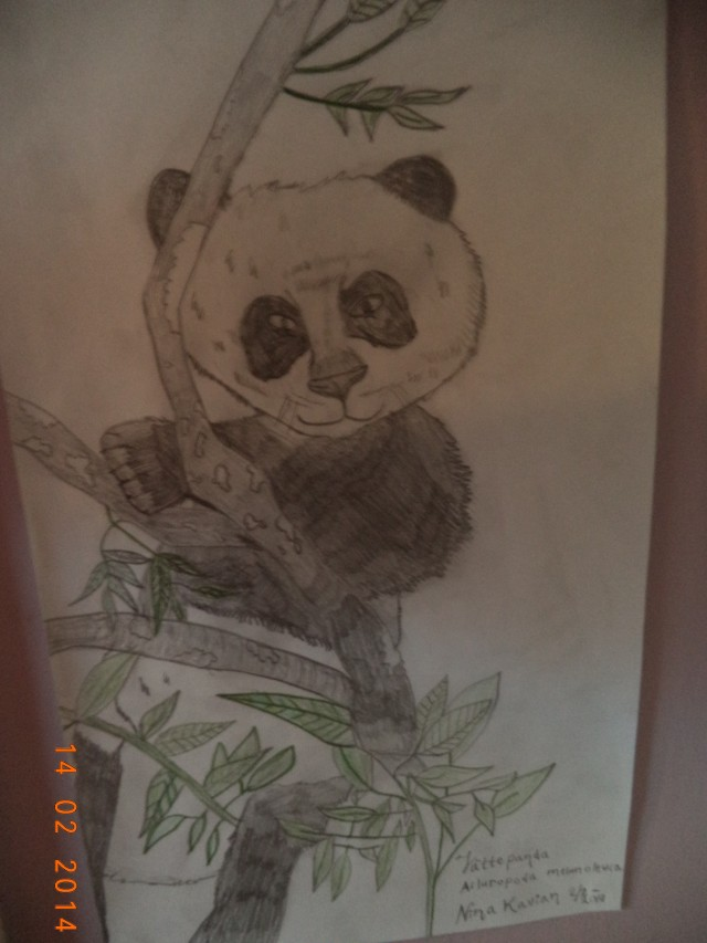 Den här har jag tecknat, jag blev nöjd.  :)