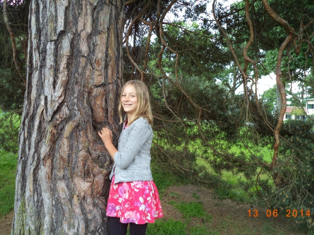 Mirabel med en vacker tall. Träden, denna magiska varelse som vi vet så mycket om. Och den naturälskande människan.  P.S Jag har tillstånd att lägga upp bilder med människor på.
