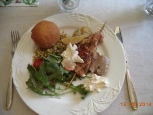 Det här var maten som vi åt...