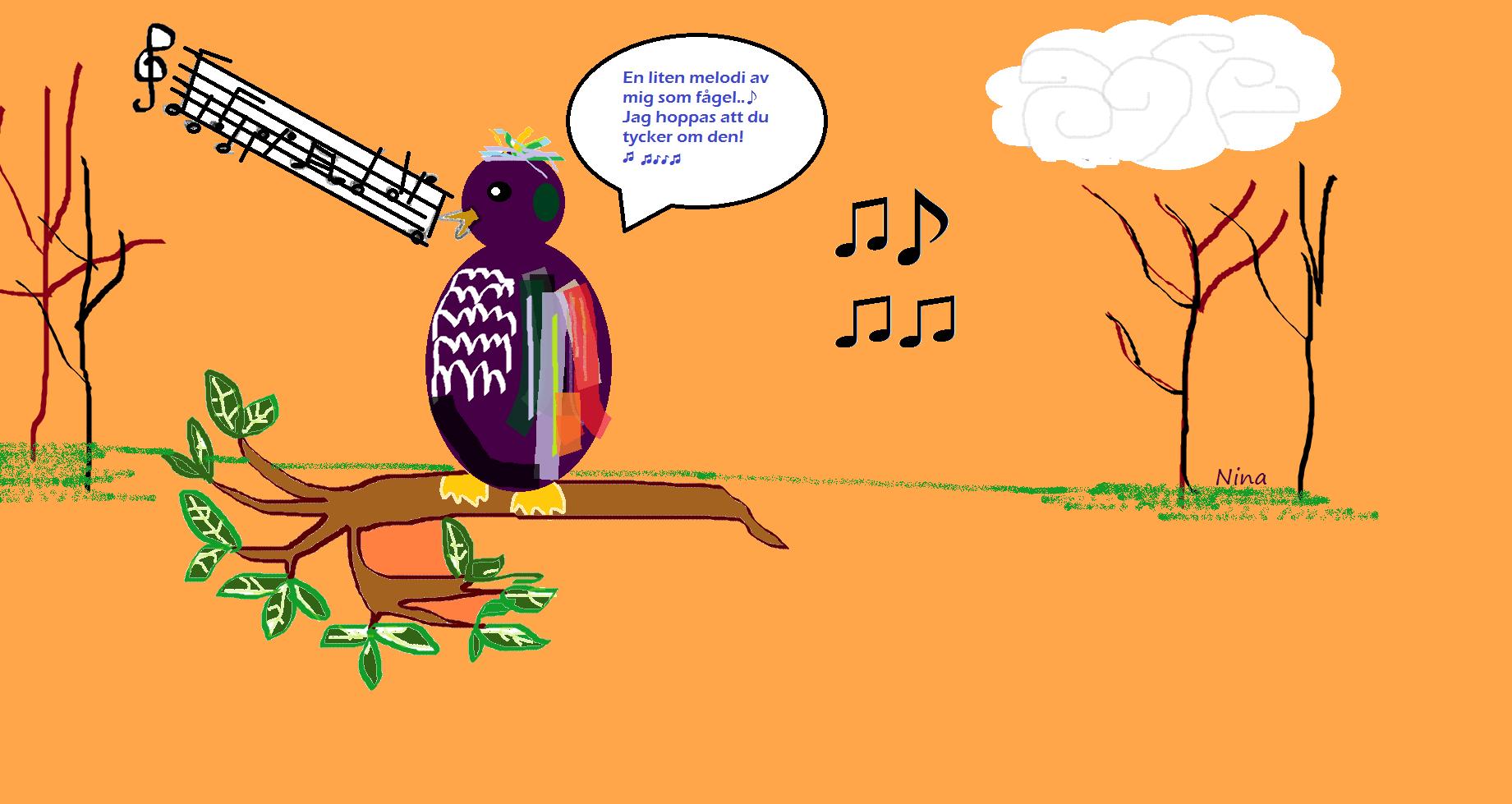 Illustration gjord av mig i Paint. Gjord på ett medvetet lite barnsligt, roligt, färgglatt tecknat sätt. :)