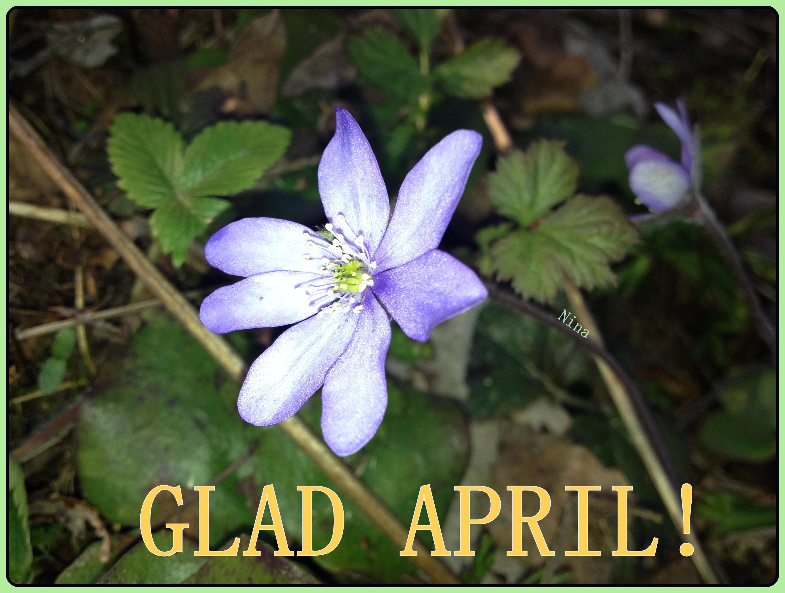 Glad april! Fotot taget av mig